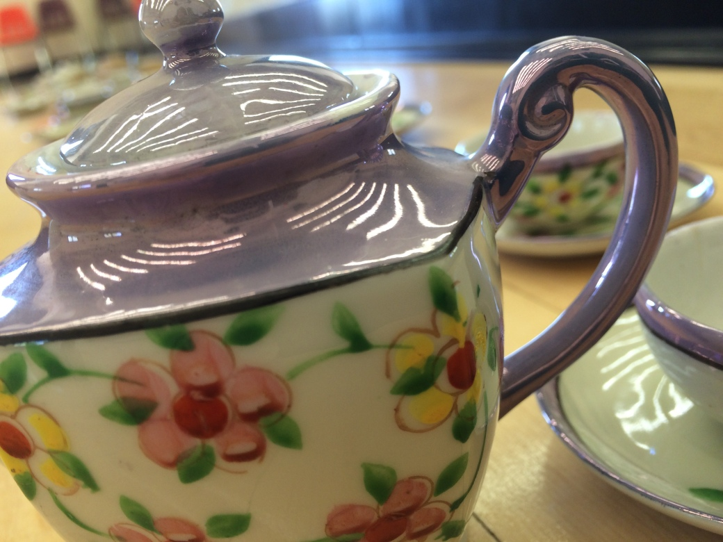 tea pot with partial top